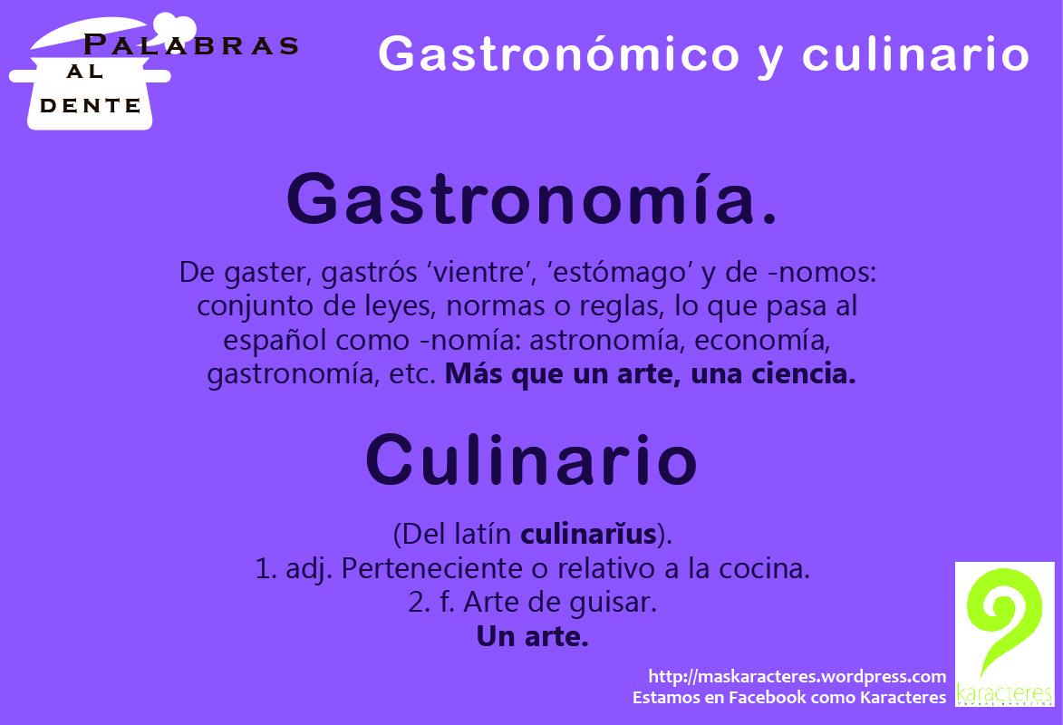 Definicion de palabras en espanol bing for Gastronomia definicion